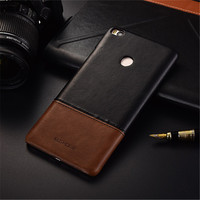 Luxury Brand Thin Vintage Genuine Leather Back Cover Case For Xiaomi Mi Max 2 Phone Cases