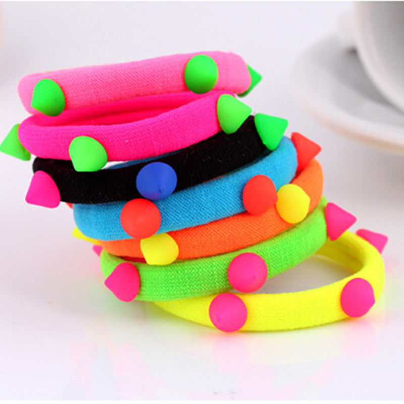 Mix Colors Headband Scrunchie Hair Styling  Elastic Hair Ties Bands Rope Ponytail Holders