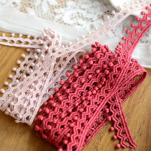 hot sale Eva garment accessories Good quality of lotus root starch color red water soluble lace 1.6 CM wide(China)