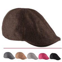 2016 Nuovo Solido Casquette Cappello Berretto Invernale per Le Donne e  uomini Baker Boy Con Visiera Dello Strillone Berretto Pia. 125bf568723e
