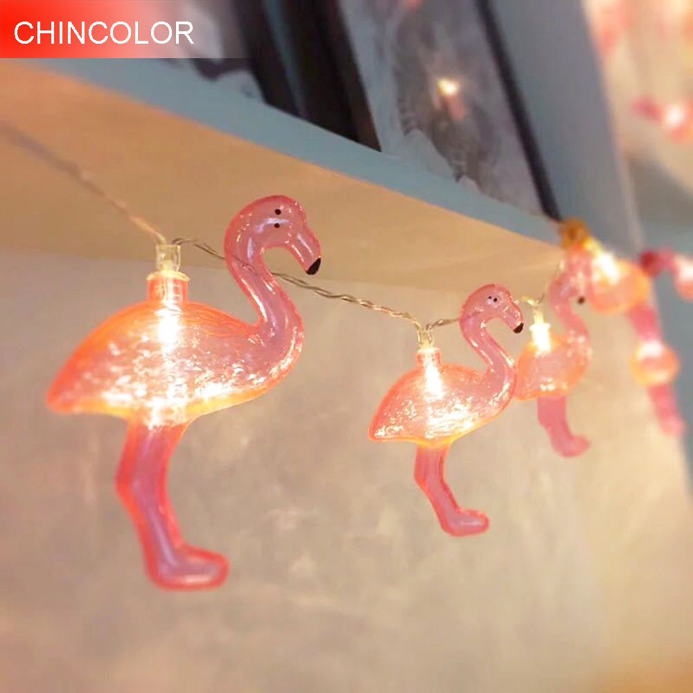 3m 20D Holiday lights Cute Flamingo Shaped Led Light string Battery Operated Xmas christmas valentine Day fairy decoration DA