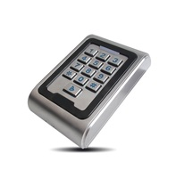 Metal Access Control keypad Waterproof ID EM Card Reader include 3pcs RFID Keyfobs Program Digital Backlit Security Keypad