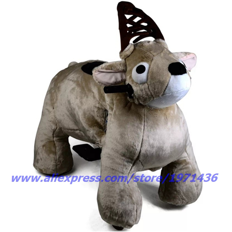 Coin Operated Children Game Machine Plush Animal Ride On Toys
