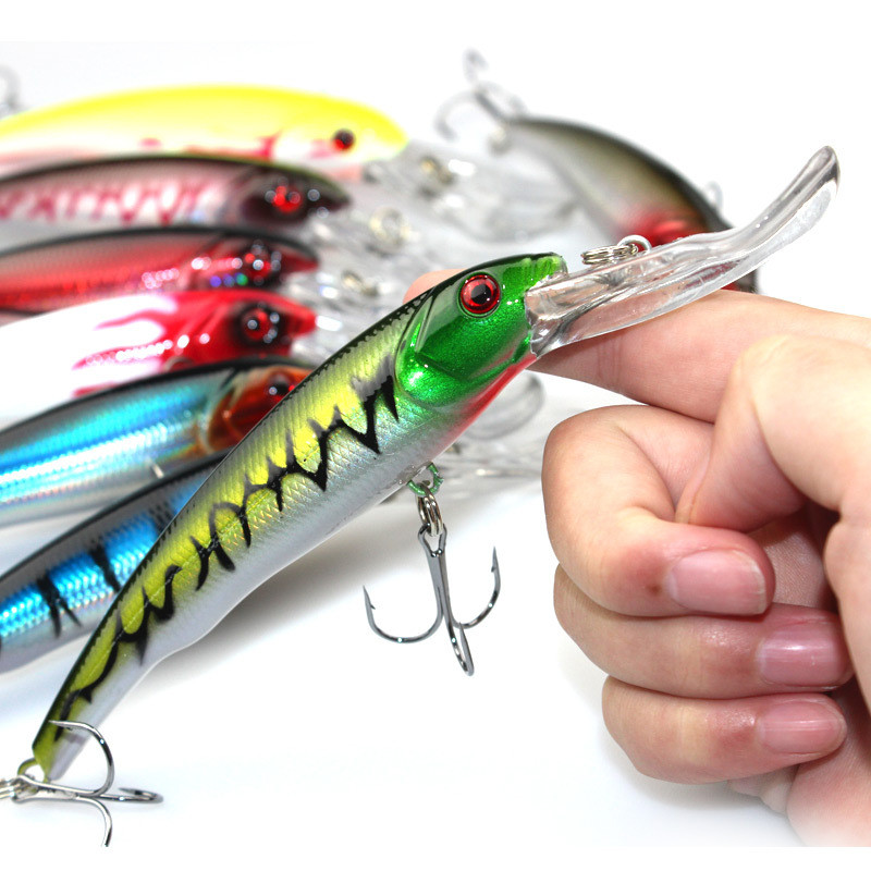 8 Colors Big Heavy Minnow Fishing Lure 16.5cm 29g High Visibility Laser Minnow Artificial Bait Ocean Fishing Accessories 30pcs set fishing lure kit hard spoon metal frog minnow jig head fishing artificial baits tackle accessories