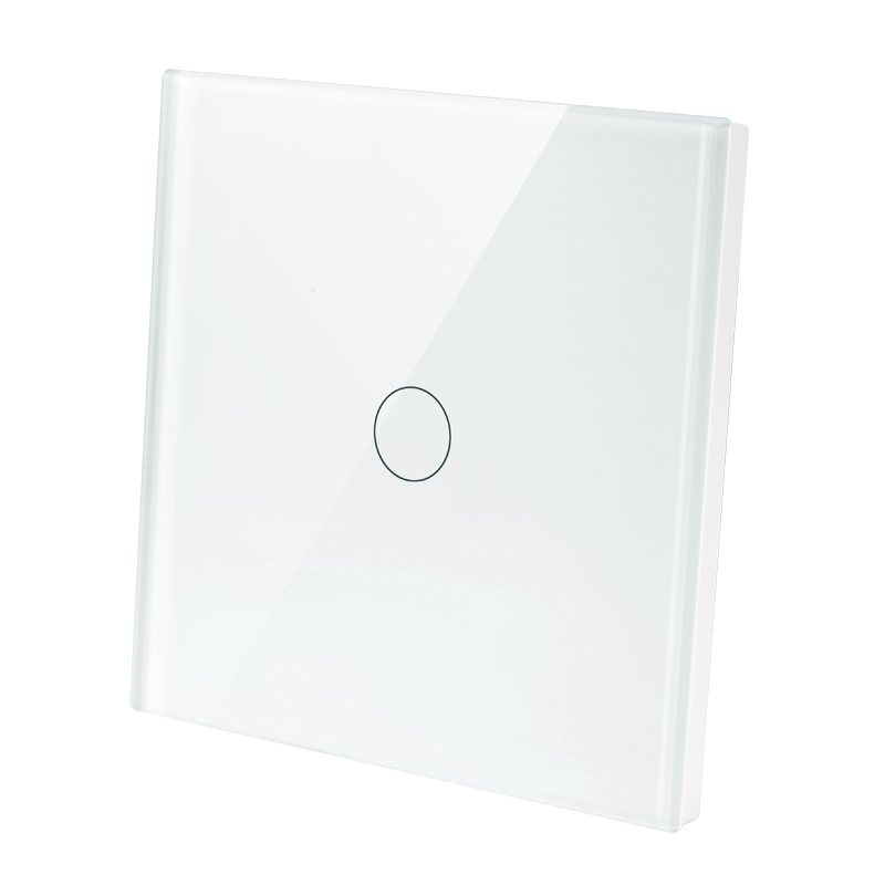 EU Standard Switch Wall Touch Switch Luxury White Crystal Glass 1 Gang 1 Way Switch CMW 01 in Switches from Lights Lighting