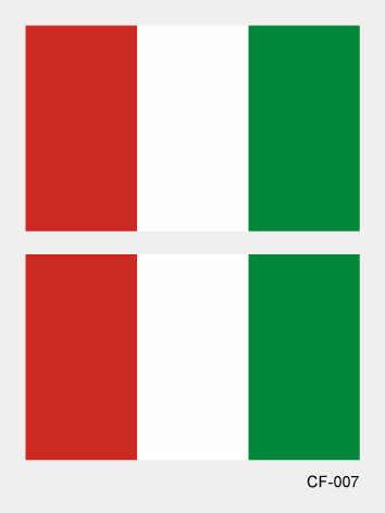 2018 pays drapeaux autocollant de tatouage du Canada France italie australie corps imperméable temporaire tatouage pour hommes femmes enfants