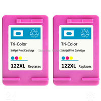 2x Compatible Color Ink Cartridge For HP 122 HP122XL Ink For HP Deskjet 1050 2050 2050s