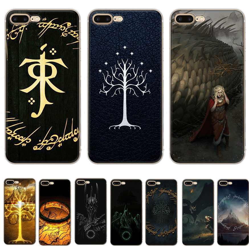 Gerleek The Lord Of the rings Case Para iPhone 5 5S SE 6 6 S 7 8 Plus X XS max XR Saco Shell Tampa