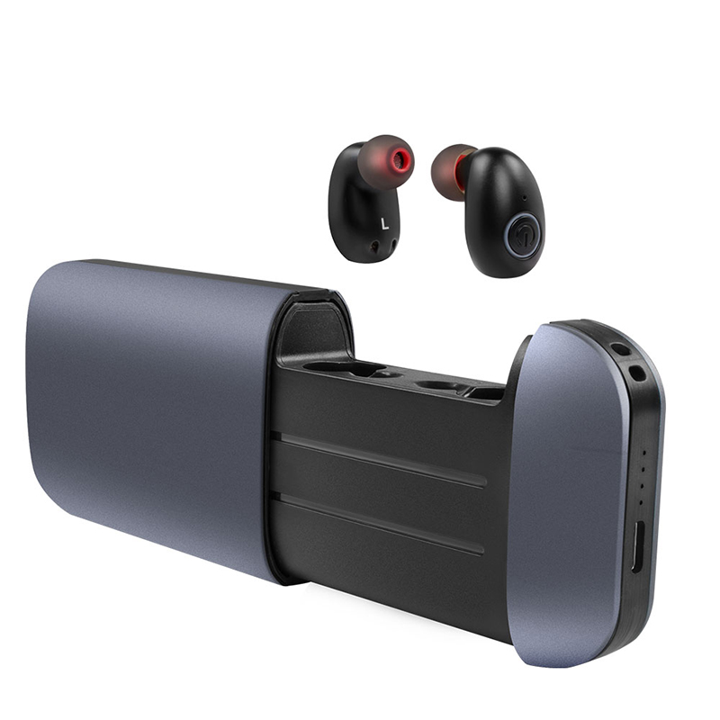 TWS B5 Mini Bluetooth Earphone Wireless Earbuds Stereo 2600mAh Power Bank IPX5 Waterproof with Hands free