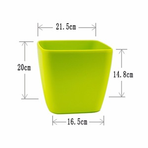Image 2 - Creative Automatic Water Absorption flowerpot for Desktop Indoor Office decoration Large Plastic Lazy flower Pot Hydroponics