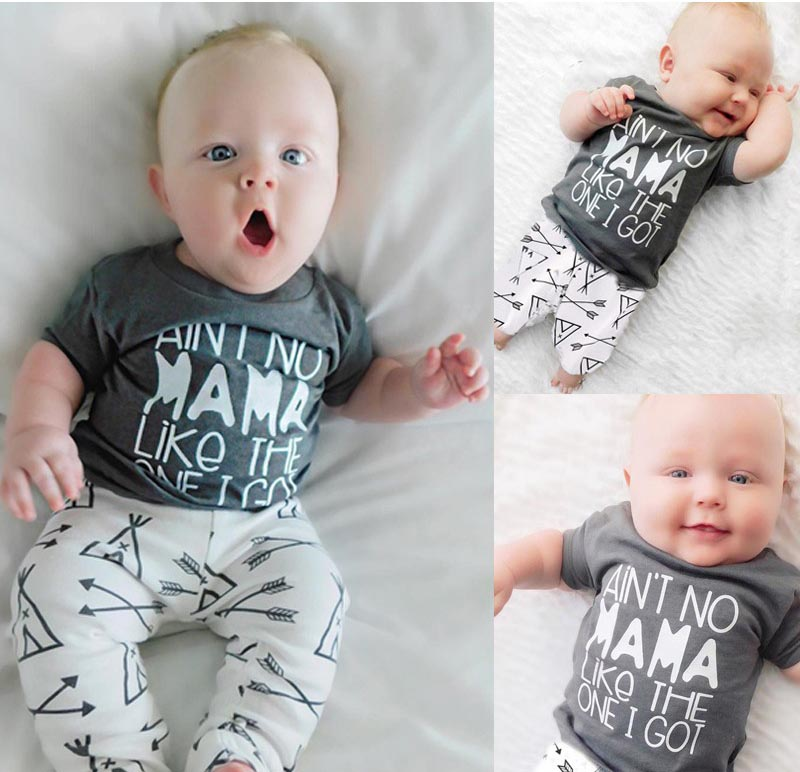 2704374ea Baby's Mama's Boy T-Shirt and Pants Set - lilukidz