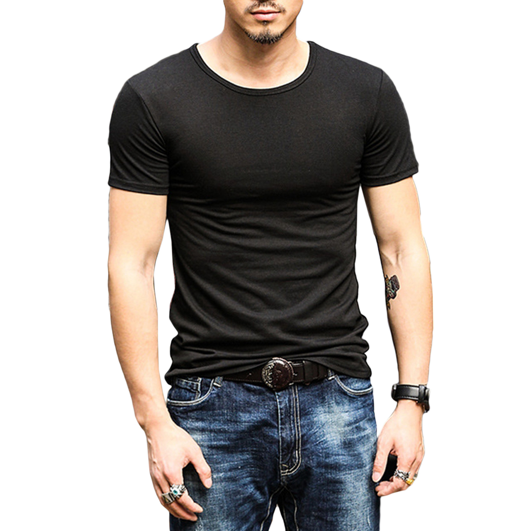 2018 Korean Fashion Men T Shirt Summer Cotton Short Sleeve ...