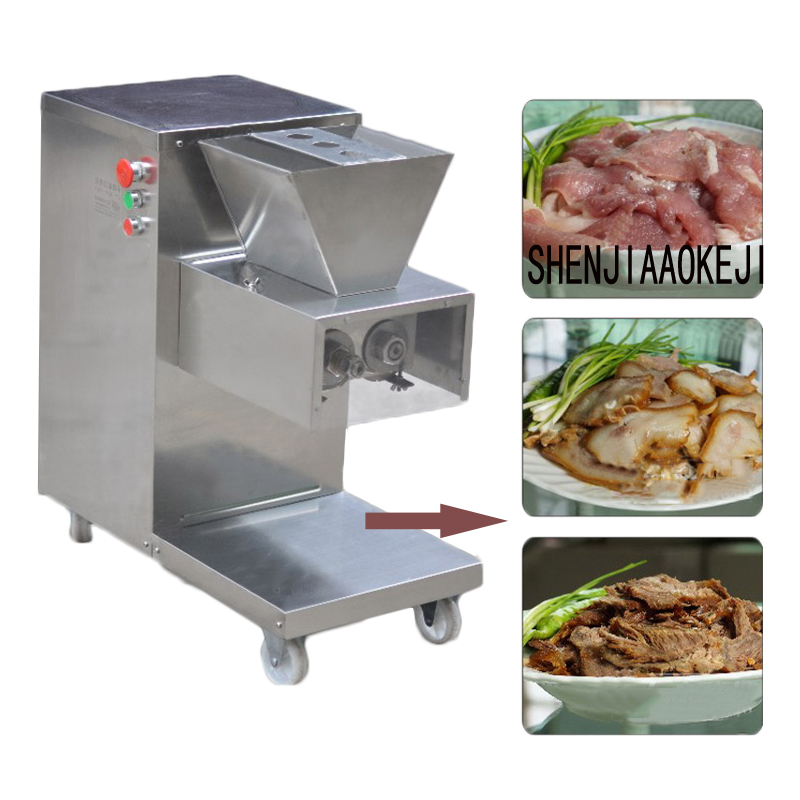800kg/h High-grade Stainless Steel Cutting Meat Slicer Machine Electric Meat Slicer Vegetable Dish Machine 110/220V 750W 1pc