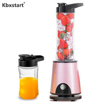 Kbxstart Multifunction Electric Juicer Cup USB Recharging Smoothie Blender Juice Maker Machine Extractor Cut Mixer 600ML(China)