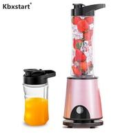 Kbxstart Multifunction Electric Juicer Cup USB Recharging Smoothie Blender Juice Maker Machine Extractor Cut Mixer 600ML