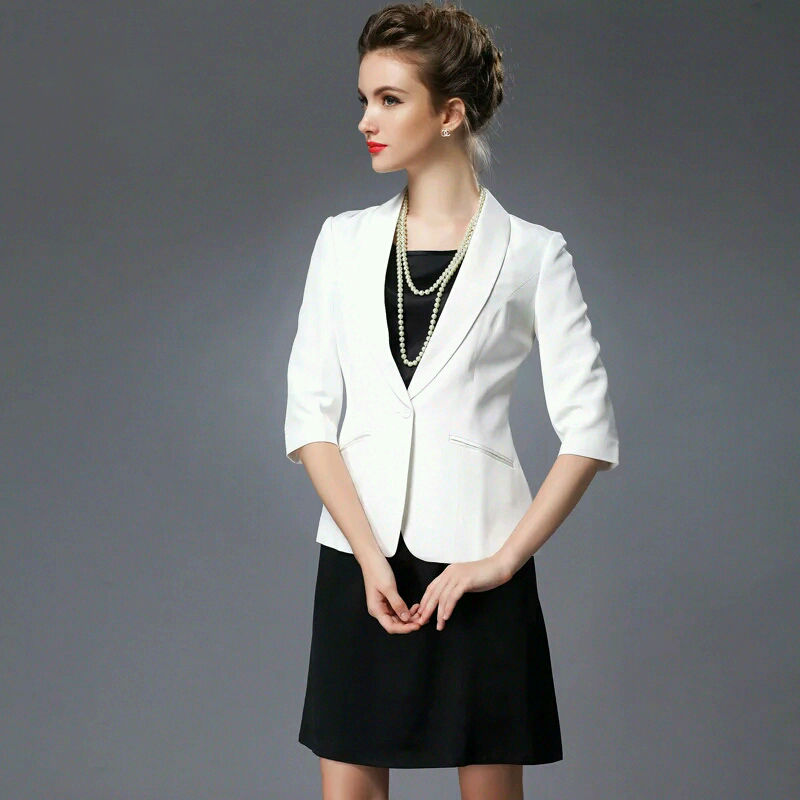 100 pure REAL SILK font b women b font SOLID BLACK WHIT high quality OFFICE LADY
