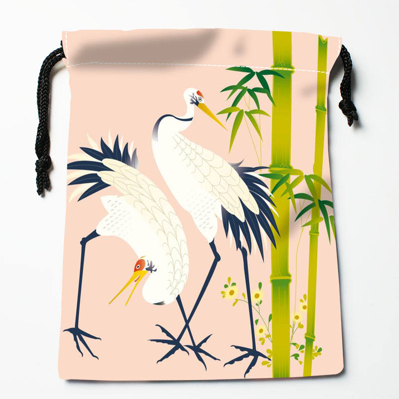 High Quality Custom Animal Picture Printing Storage Bag Drawstring Bag Gift Satin Bags 27x35cm Compression Type Bags