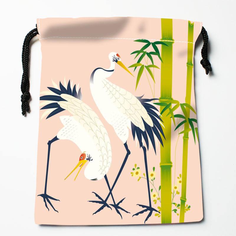 High Quality Custom Animal Picture Printing Storage Bag Drawstring Bag Gift Satin Bags 27x35cm Compression Type Bags