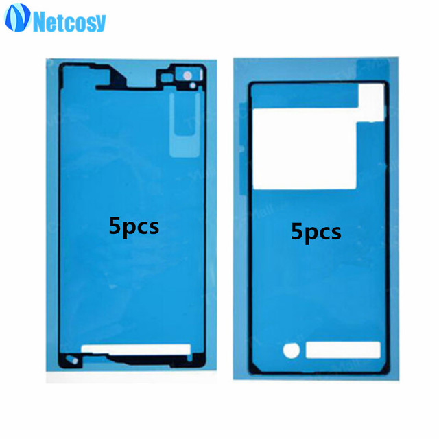 Netcosy Front+Back Adhesive Glue Tape Sticker For Sony Xperia Z2 D6502 D6503 D6543 LCD Housing Frame Plate Back Battery Cover