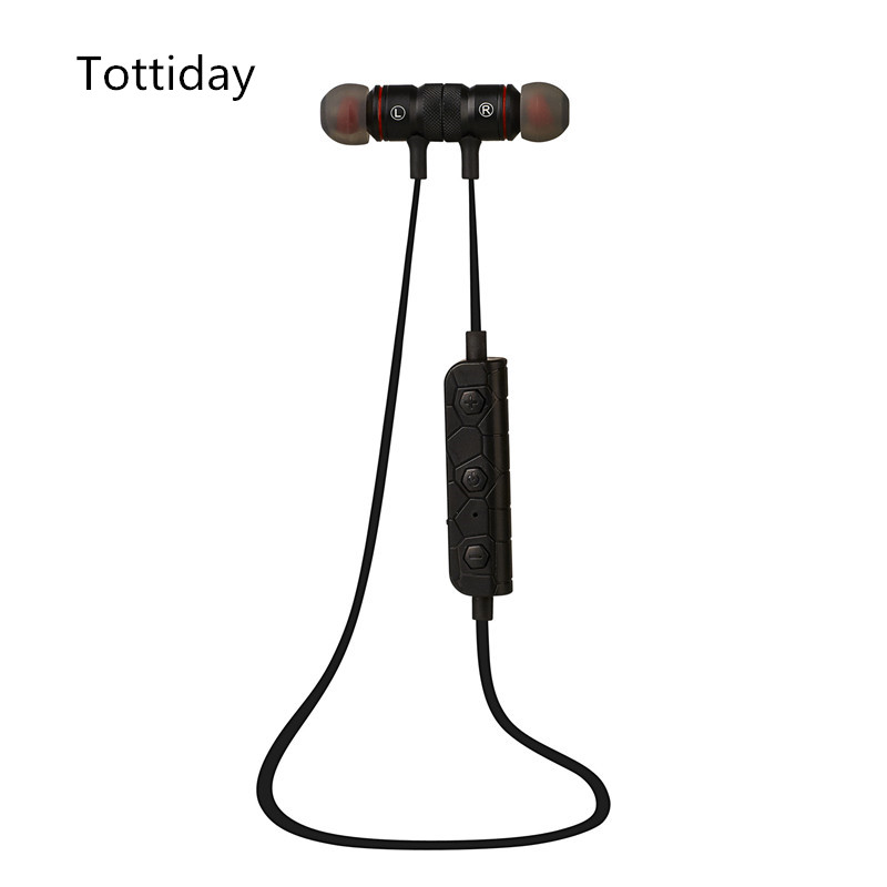 Tottiday M9 Bluetooth Headphones Wireless In-Ear Noise Reduction earphone with Microphone Sweatproof Stereo Bluetooth Headset 8252 original stereo sports gaming noise reduction built in microphone headphones wireless bluetooth headset for iphone samsung