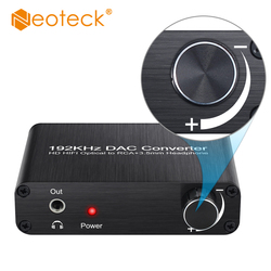 Neoteck DAC 5.1CH Audio Decoder Support DTS Dolby Digital-to-Analog Converter Optical Coaxial to RCA 3.5mm Jack Audio Adapter