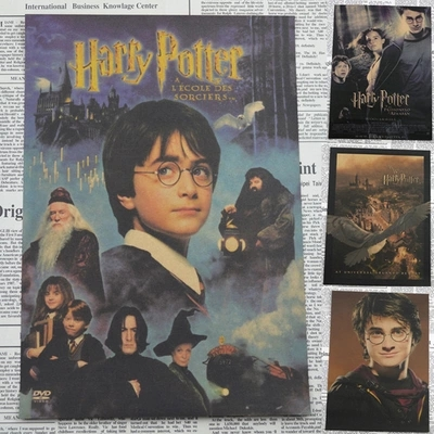 Harry Potter magic world poster series Vintage Retro Matte Kraft Paper Antique Poster Wall Sticker Home Decora 30*21cm