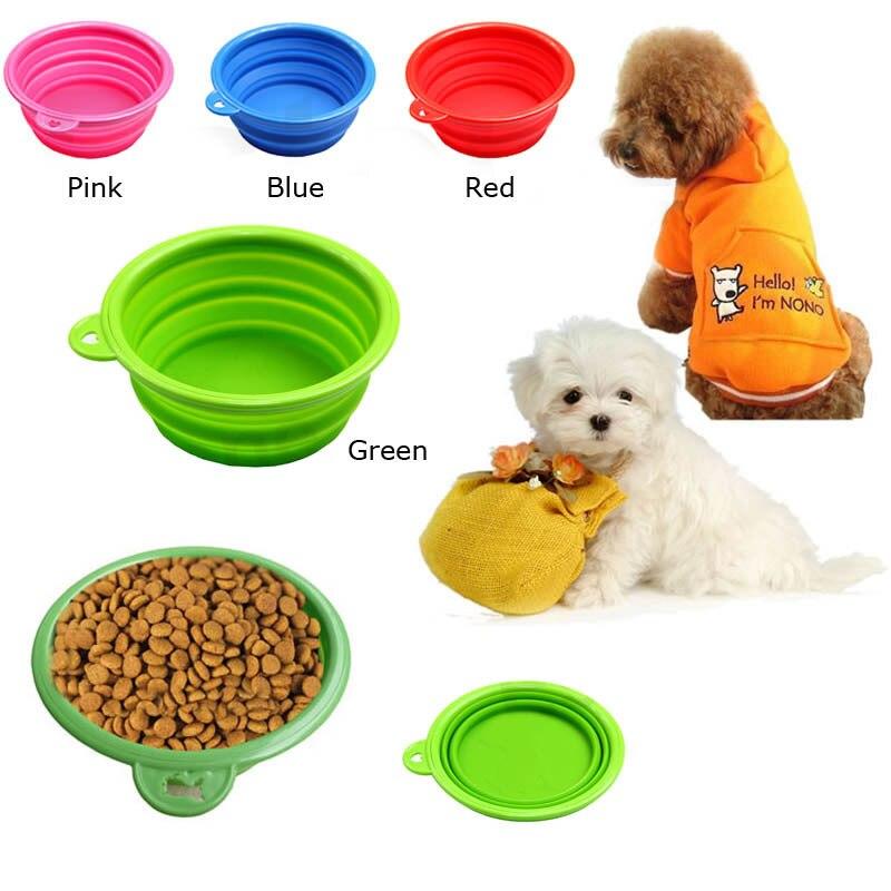 A6 Nuevos Productos Para Mascotas de silicona comederos Tazón para mascotas pleg