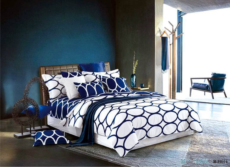 blue white polka dot european bedding set king queen size duvet cover bedspread bed in a bag sheet bedroom brandin bedding sets from home u0026 garden on