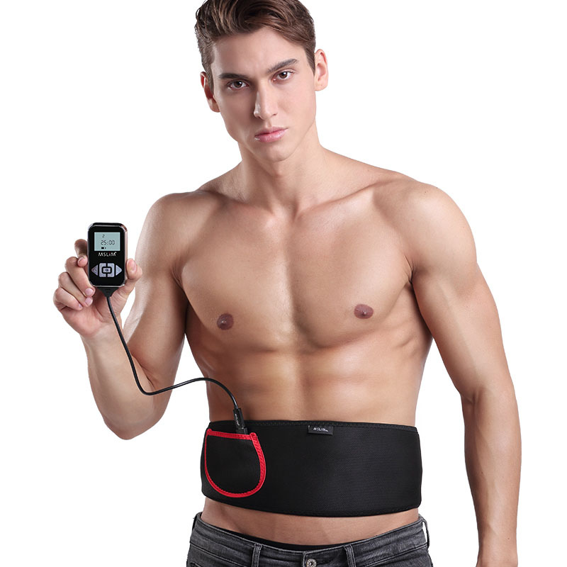 2018 Upgrade Newest 2 channal EMS ABS training belt with 12 mode Male Abdominal Muscle Workout