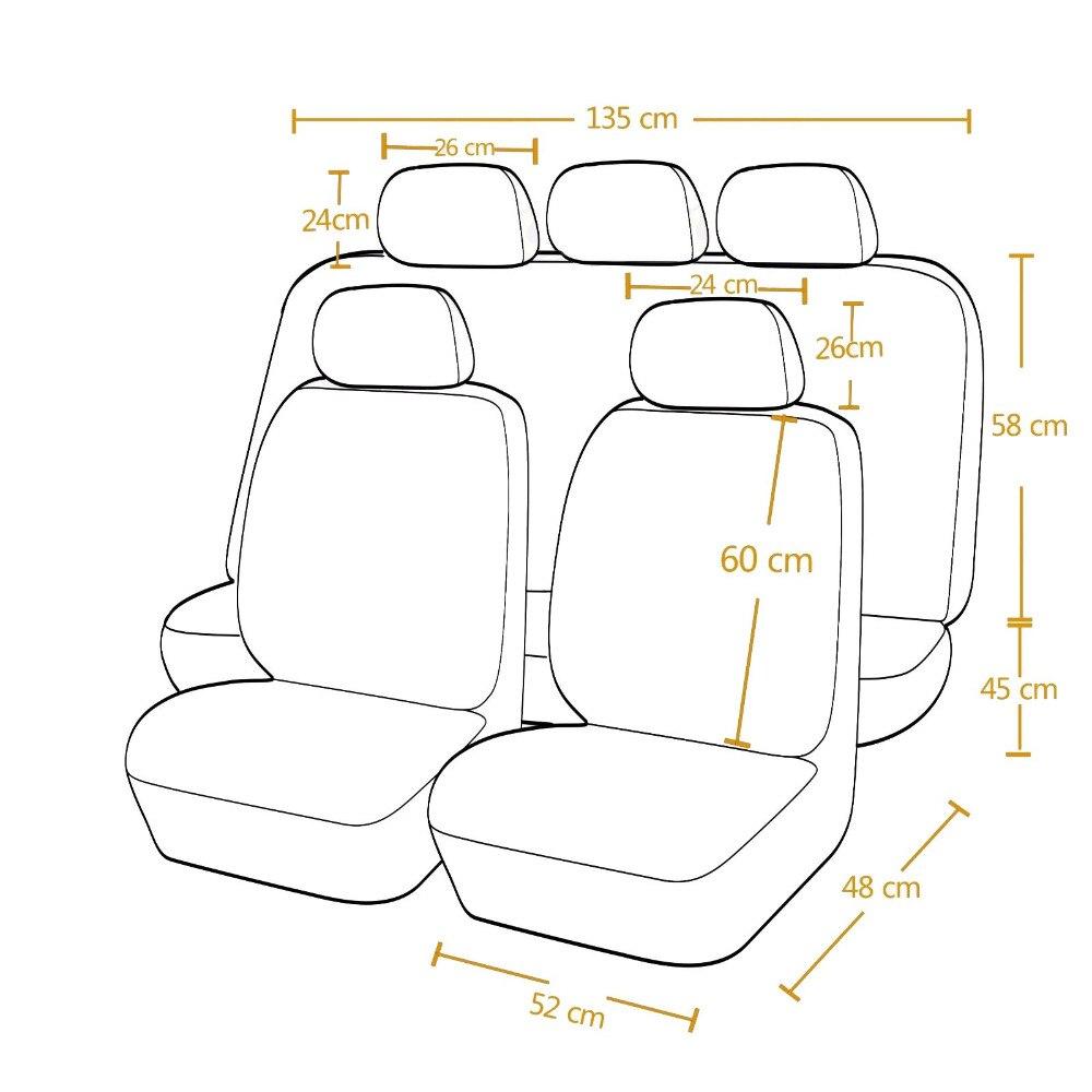 Högkvalitets PU Läder Bilstolsöverdrag Universal 8 färger Bilar - Bil interiör tillbehör - Foto 6