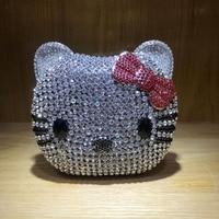 XIYUAN hello kitty Clutch Evening Bag Chain Handbag Women Party Wedding Bride Crystal Diamond banquet Bag Day Clutches purse