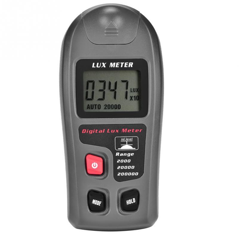 1 комплект, цифровой Luxmeter, ЖК-дисплей, измеритель освещенности