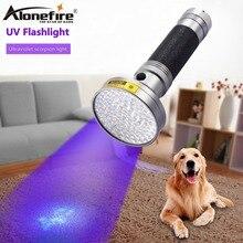 AloneFire Super 100LED UV Light 395-400nm LED Flashlight torch light uv lamp