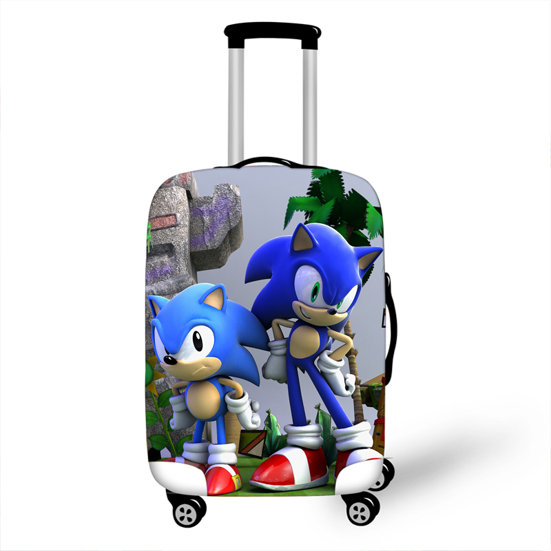 18-32 Inch Sonic Boom Mario Elastic Luggage Suitcase Protective Cover Protect Dust Bag Case Cartoon Travel Cover