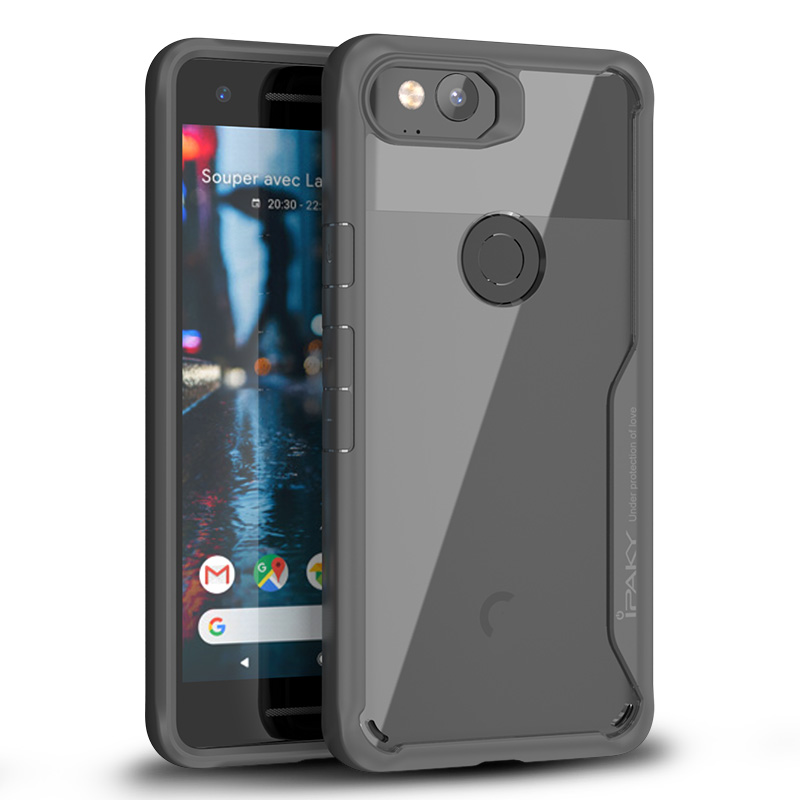 the best attitude 7a64d 69dab US $4.95 60% OFF|for Google Pixel 2 Case Original IPAKY Pixel 2 XL Silicone  Acrylic Hybrid Shockproof Transparent Case for Google Pixel 2 XL Case-in ...