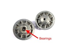 Mato Metal upgraded idler wheels parts for Heng Long 3818-1 1/16 1:16 RC Tiger I tank model parts with bearings