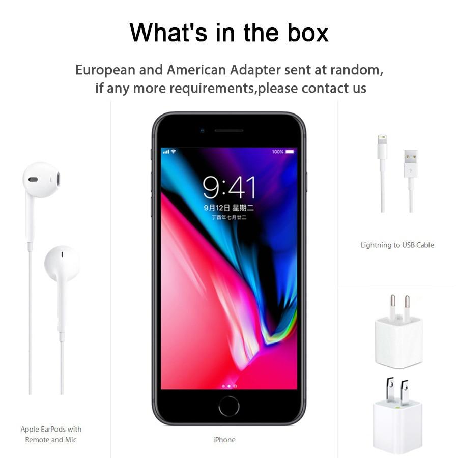 Original Unlocked Apple iphone 8 Plus 5.5 inch RAM 3GB ROM 64G Hexa Core 12MP iOS Fingerprint 2691mAh iphone8p LTE Mobile Phone