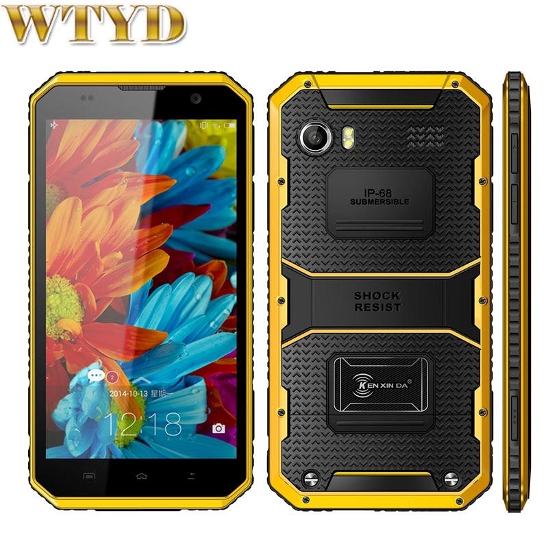 KEN XIN DA Proofing W9 Smart Phone ROM 16GB RAM 2GB IP68 Waterproof Shockproof 6 0