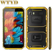 "KEN XIN DA Épreuvage W9 Smart Téléphone ROM 16 GB + RAM 2 GB IP68 Étanche Antichoc 6.0 ""Android 5.1 MTK6753 Octa Core LTE 4G"