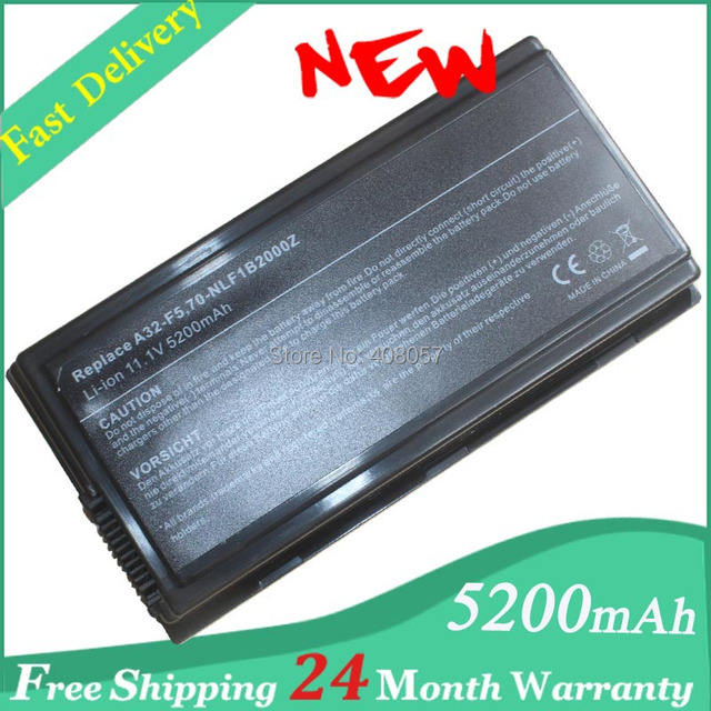 5200mAh laptop battery for Asus A32-F5, 90-NLF1B2000Y, 70-NLF1B2000Z,for ASUS F5 Series  laptop+ free shipping