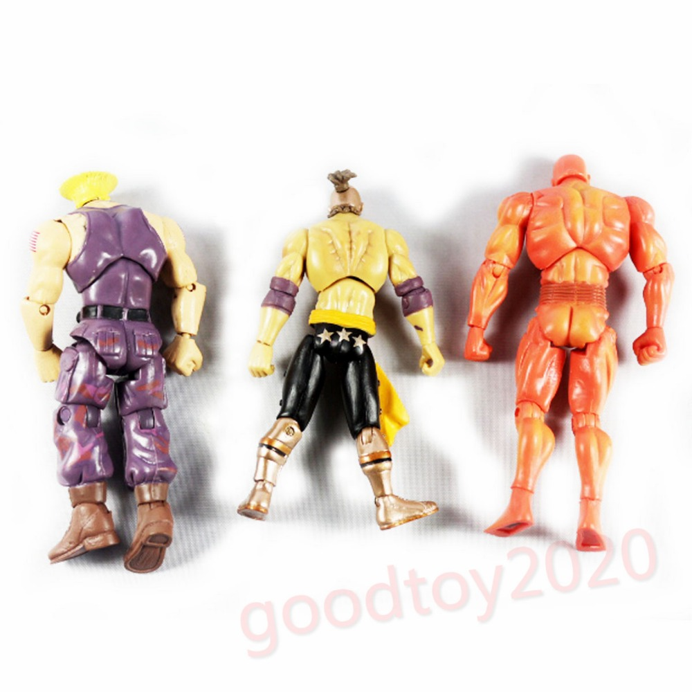 3pcs lot Street Fighter Player 2 Edition GUILE ELFUERTE SETH Action Figure Loose NE003008 seth wp