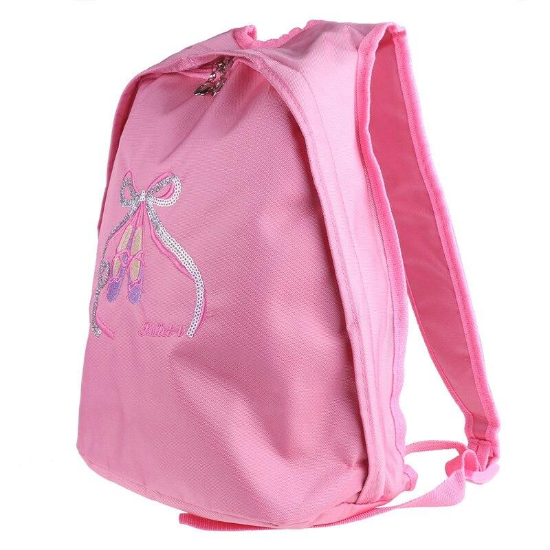 47158e0af876 Kids Girls Lovely Ballet Dance Backpack Shiny Sequins Toe Shoes School  Ballet Gym Backpack Ballet Bag