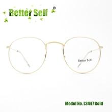 Teenager Eyeglasses Optical Frames Retro Round Glasses Metal Eyewear Design Spectacles Better Self Stock L3447