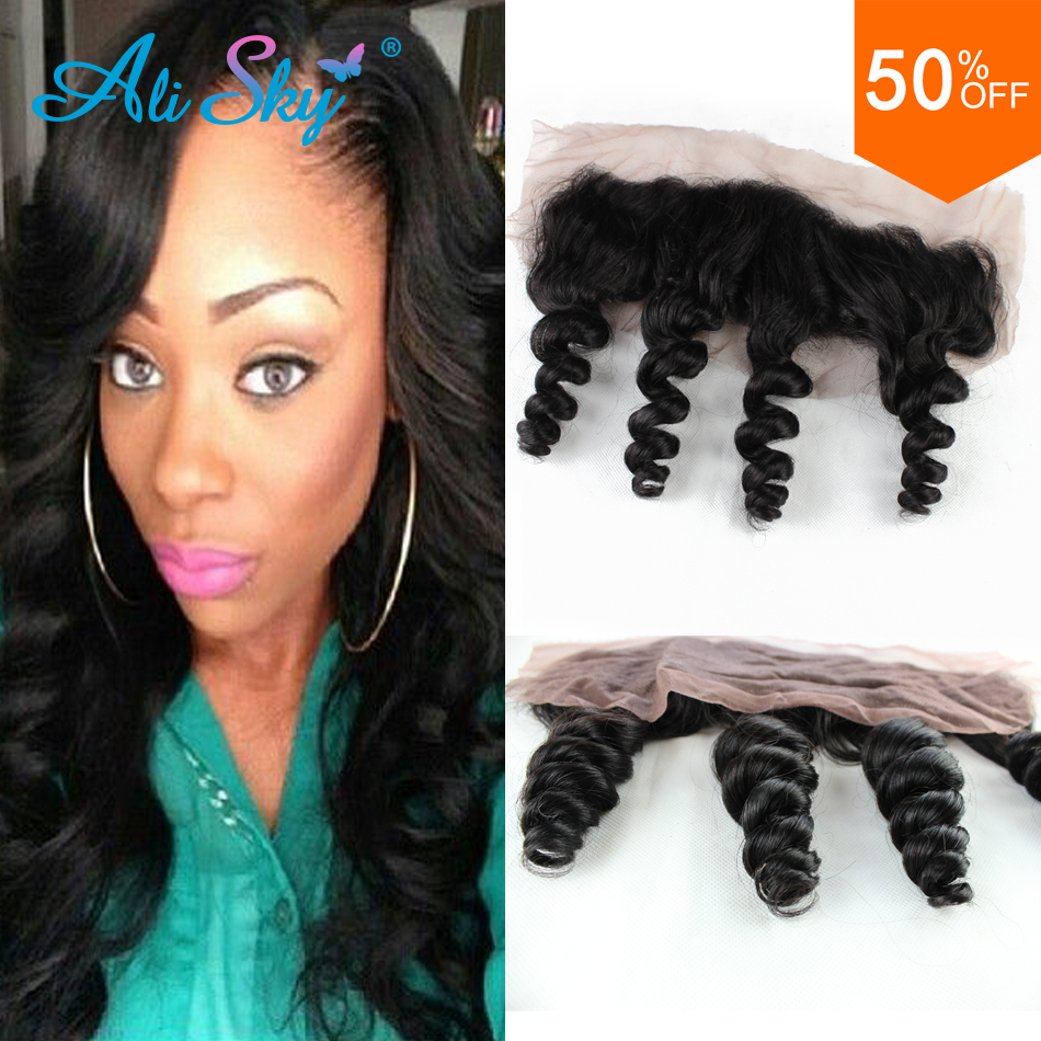 купить Peruvian loose wave lace frontal closure 13x4 lace frontals with baby hair peru loose wave ear to ear full lace frontal closure