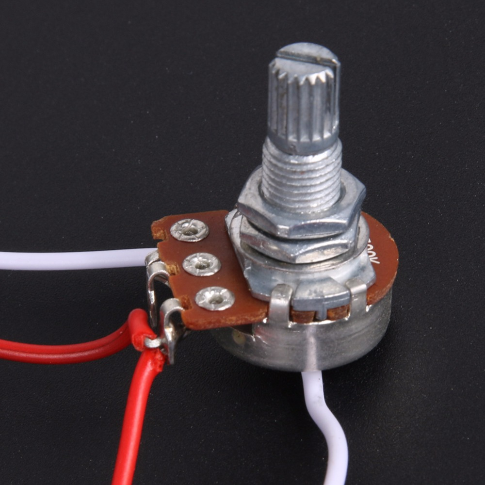 1set Wiring Harness Prewired 2v1t1j For Jb Bass Guitar With 3 500k Pots 60g Durable Cable Switchcraft Jack In Parts