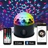 ZjRight Bluetooth Play Music 9 Color LED Magic Ball Light Dj Ktv Bar Stage Light Birthday