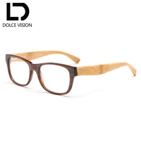 a376c456fd DOLCE VISION Fashion Bamboo Wooden Optical Glasses Women Prescription  Photochromic Lens Graduated Glasses Men Degree Spectacles