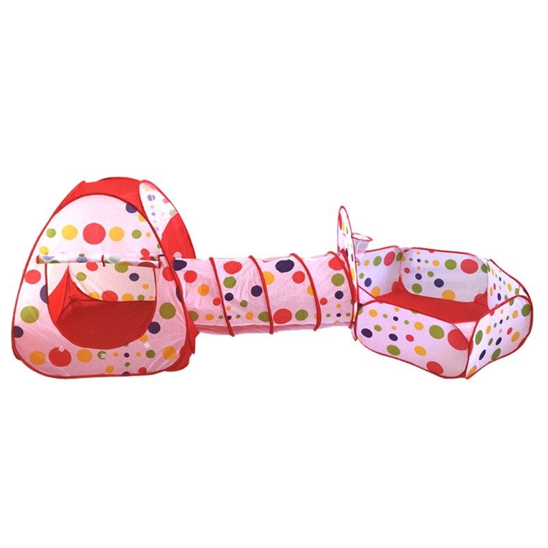 Детская палатка складной бассейн-трубка-вигвама 3 шт. Pop-up Игровая палатка для детей детский игровой дом Крытый открытый туннель детская игр...