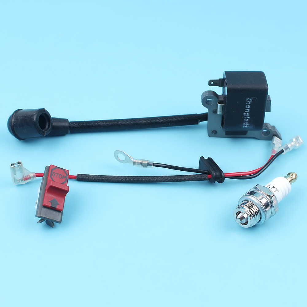 hight resolution of ignition coil on off stop kill switch spark plug kit for husqvarna 136 137 141 235 240 36 41 23 26 chainsaw replacment parts in chainsaws from tools on