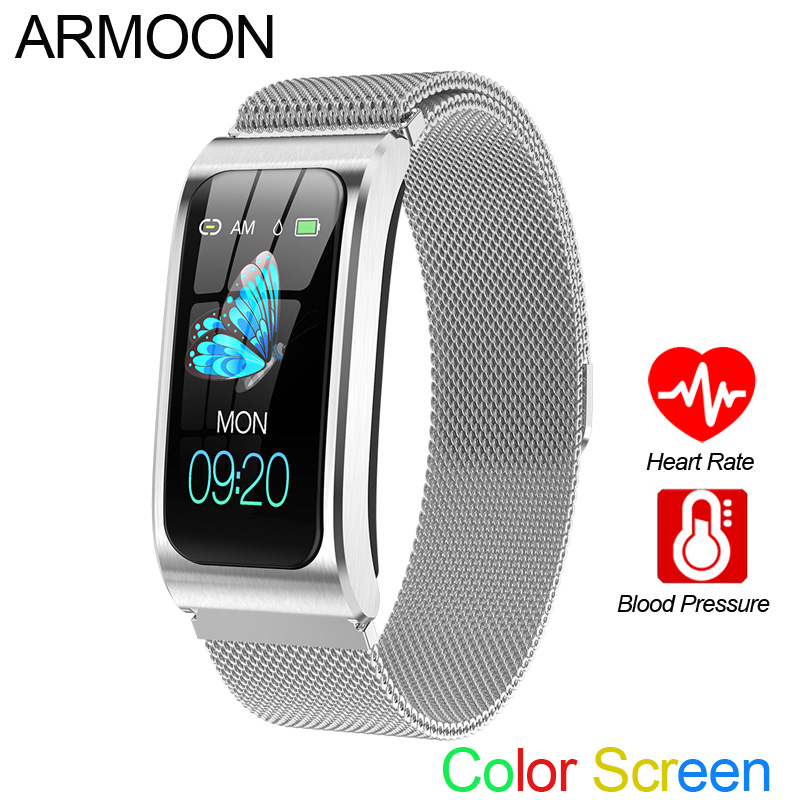 Smart Bracelet AK12 Men Women Heart Rate Band Sleep Monitor Blood Pressure Fitness Tracker Waterproof Color Screen Sports Watch